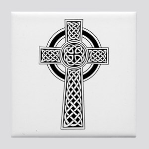 Celtic Knot Cross Tile Coaster