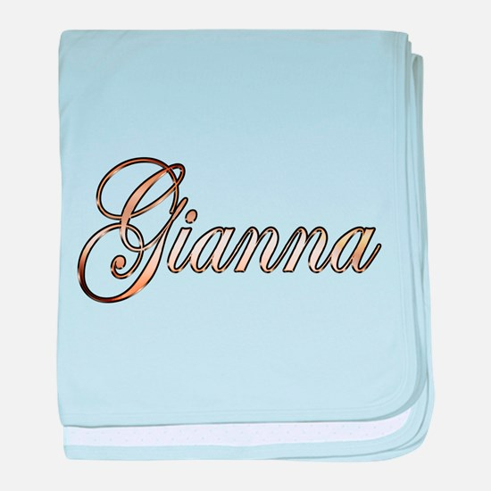 Gold Gianna baby blanket