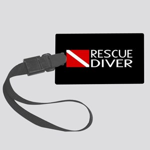 Diving: Diver Flag & Rescue Dive Large Luggage Tag