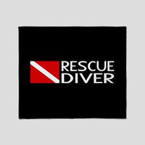 Diving: Diver Flag & Rescue Diver Throw Blanket
