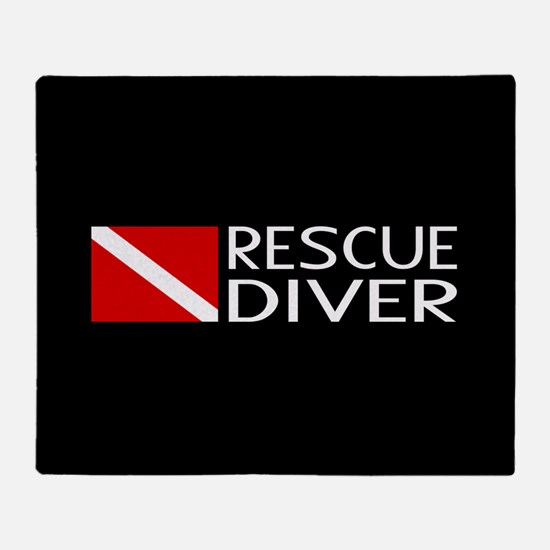Diving: Diver Flag & Rescue Diver Throw Blanket