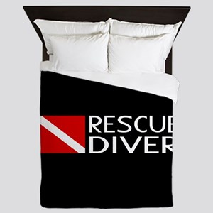 Diving: Diver Flag & Rescue Diver Queen Duvet