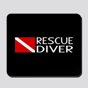 Diving: Diver Flag & Rescue Diver Mousepad