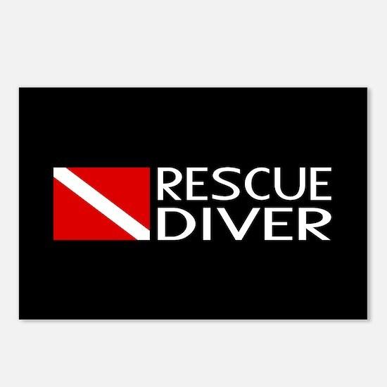 Diving: Diver Flag & Resc Postcards (Package of 8)