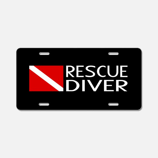 Diving: Diver Flag & Rescue Aluminum License Plate