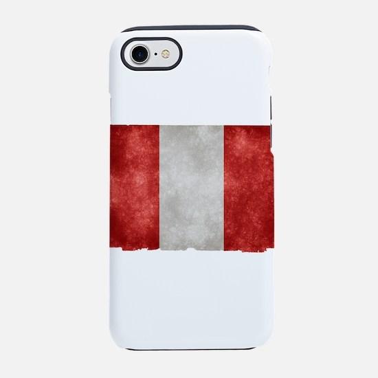 peru-grunge-flag iPhone 8/7 Tough Case