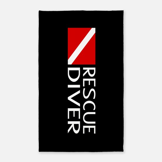 Diving: Diver Flag & Rescue Diver Area Rug