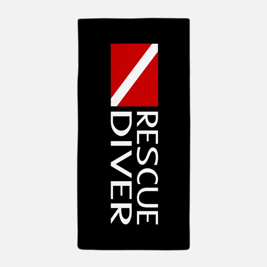 Diving: Diver Flag & Rescue Diver Beach Towel