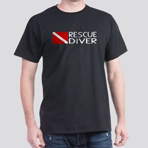 Diving: Diver Flag & Rescue Diver Dark T-Shirt