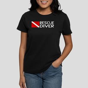 Diving: Diver Flag & Rescue D Women's Dark T-Shirt