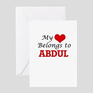 My heart belongs to Abdul Greeting Cards