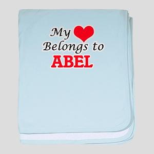 My heart belongs to Abel baby blanket