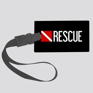 Diving: Diving Flag & Rescue Large Luggage Tag