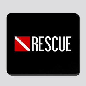Diving: Diving Flag & Rescue Mousepad