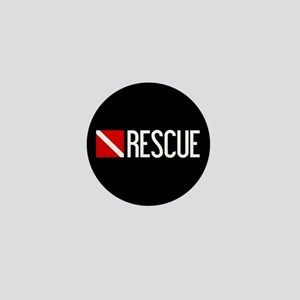 Diving: Diving Flag & Rescue Mini Button