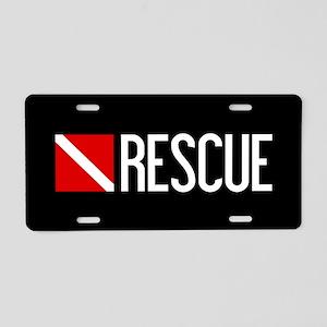 Diving: Diving Flag & Rescu Aluminum License Plate