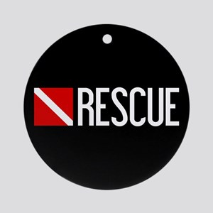 Diving: Diving Flag & Rescue Round Ornament