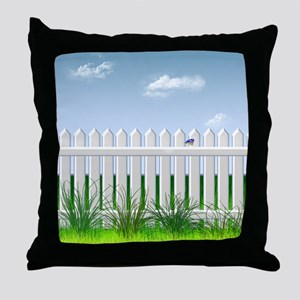 The Garden Fence Throw Pillow