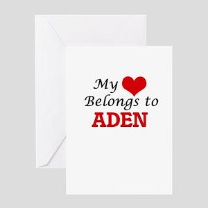 My heart belongs to Aden Greeting Cards