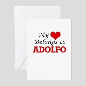 My heart belongs to Adolfo Greeting Cards