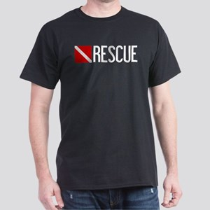 Diving: Diving Flag & Rescue Dark T-Shirt