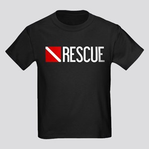Diving: Diving Flag & Rescue Kids Dark T-Shirt
