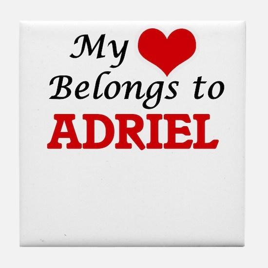 My heart belongs to Adriel Tile Coaster