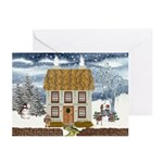 Winter Cottage Cards (Pk of 10)