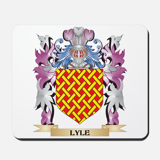 Lyle Coat Of Arms Family Crest Mousepad