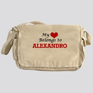 My heart belongs to Alexandro Messenger Bag