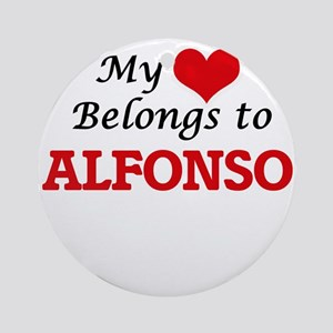 My heart belongs to Alfonso Round Ornament