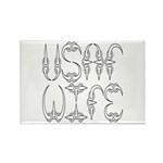 USAF Wife Rectangle Magnet (100 pack)
