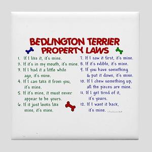 Bedlington Terrier Property Laws 2 Tile Coaster