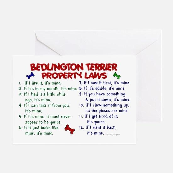 Bedlington Terrier Property Laws 2 Greeting Card