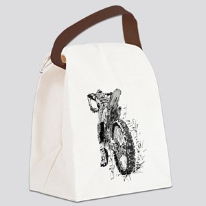 Motor Cross Canvas Lunch Bag
