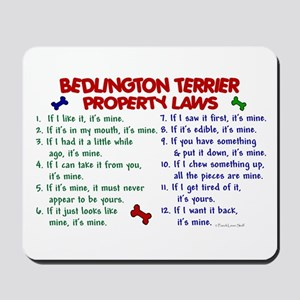 Bedlington Terrier Property Laws 2 Mousepad