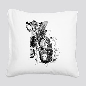 Motor Cross Square Canvas Pillow