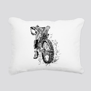 Motor Cross Rectangular Canvas Pillow
