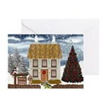 Merry Christmas Cottage Cards (Pk of 20)