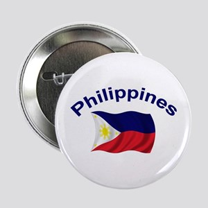 "Philippines Flag 2.25"" Button"