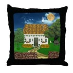 Storm Cottage Scene Throw Pillow