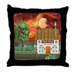 Sunset Cottage Throw Pillow