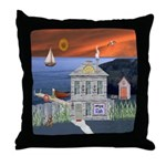 The Fisherman's Shack Throw Pillow