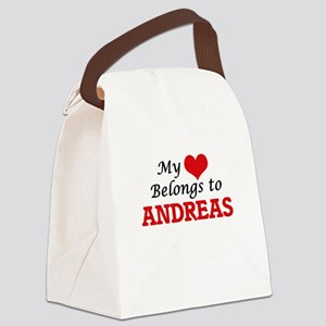 My heart belongs to Andreas Canvas Lunch Bag