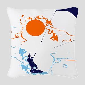 Kite Surfing Woven Throw Pillow