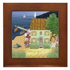 Lakeside Cottage Framed Tile