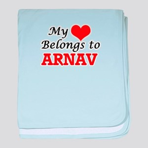 My heart belongs to Arnav baby blanket