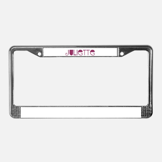 Juliette License Plate Frame