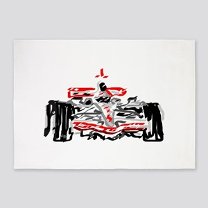 Race car 5'x7'Area Rug