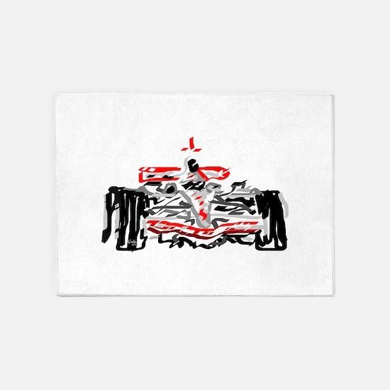 Race car 5'x7'Area Rug